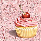 Pink Cupcake Paisley Bandana by PatriciaSheaArt