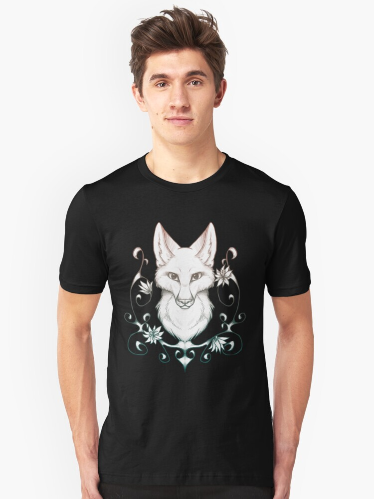 The fox with the flowers Unisex T-Shirt Front