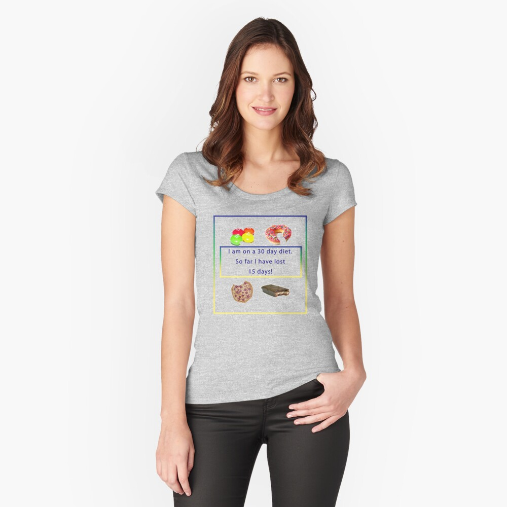 My Diet Women's Fitted Scoop T-Shirt Front