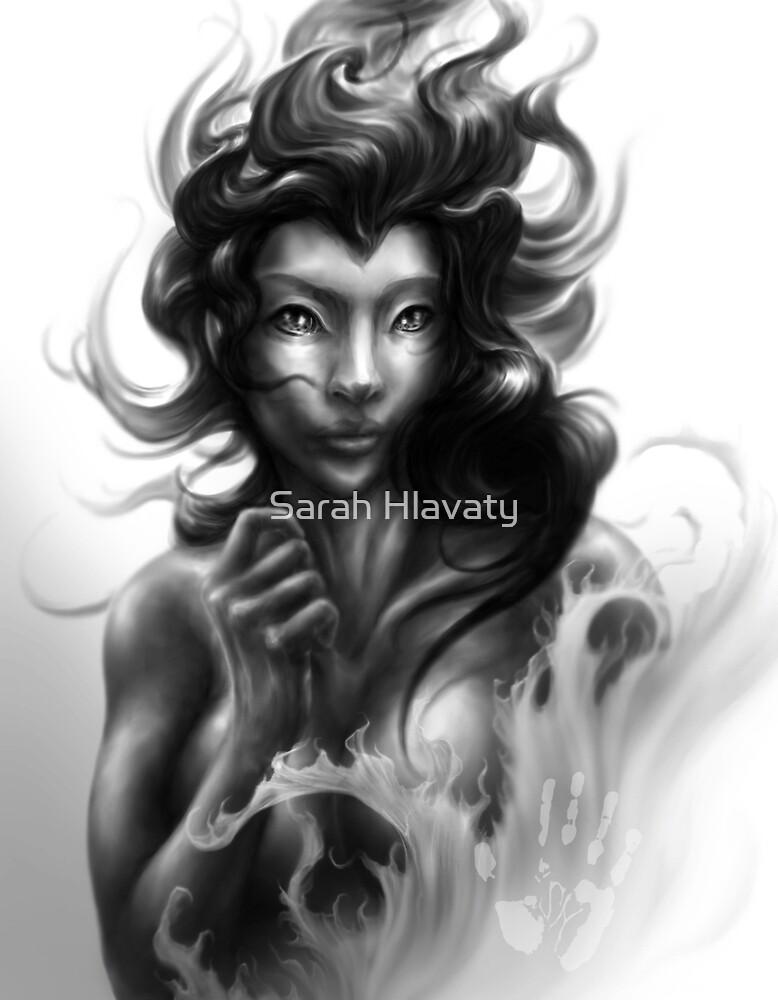 Mermaid Portrait Digital Drawing by Sarah Hlavaty