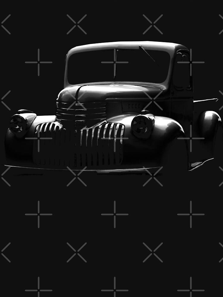chevrolet pickup, black shirt by hottehue