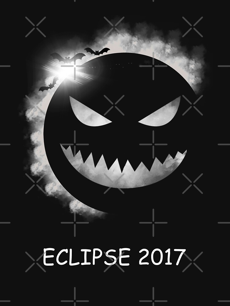 Halloween Pumpkin Solar Eclipse 2017 Tee Shirt by hani26may