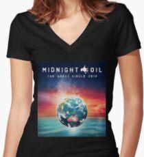 OIL MIDNIGHT GEMBOK Women's Fitted V-Neck T-Shirt