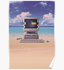 Vaporwave Macintosh - No Text Poster
