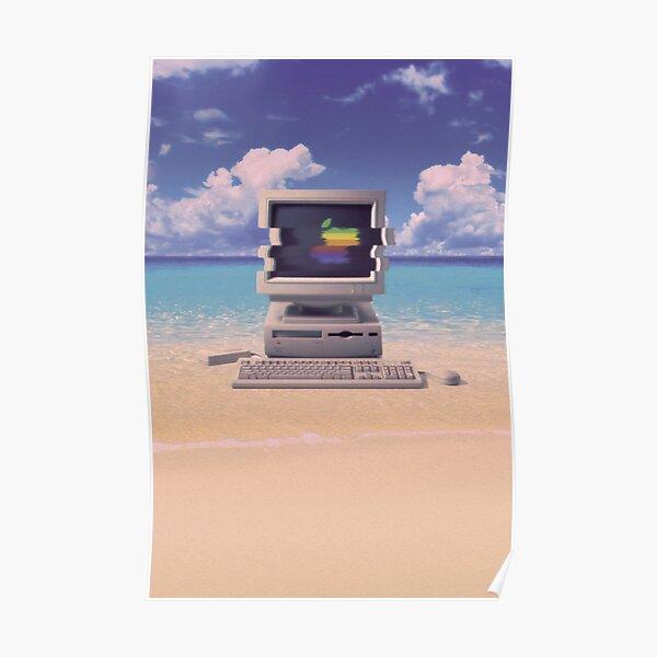 Vaporwave Macintosh - No Text Poster