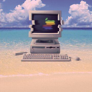 Vaporwave Macintosh - Sin texto de Alheak