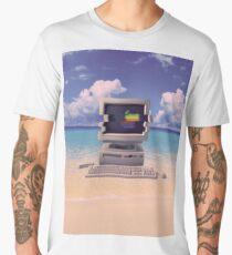 Vaporwave Macintosh - No Text Men's Premium T-Shirt
