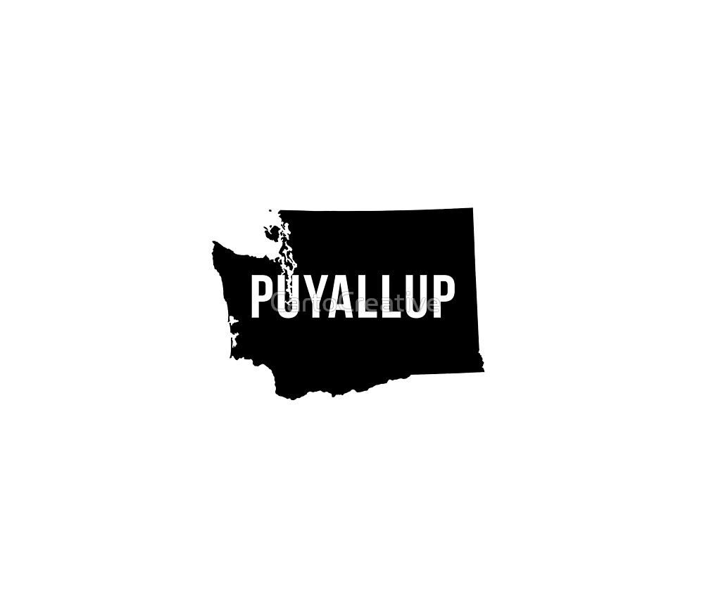 Puyallup, Washington Silhouette by CartoCreative