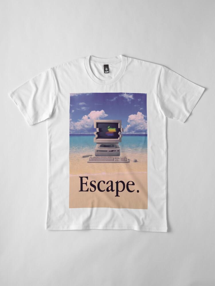 Vista alternativa de Camiseta premium Vaporwave Macintosh