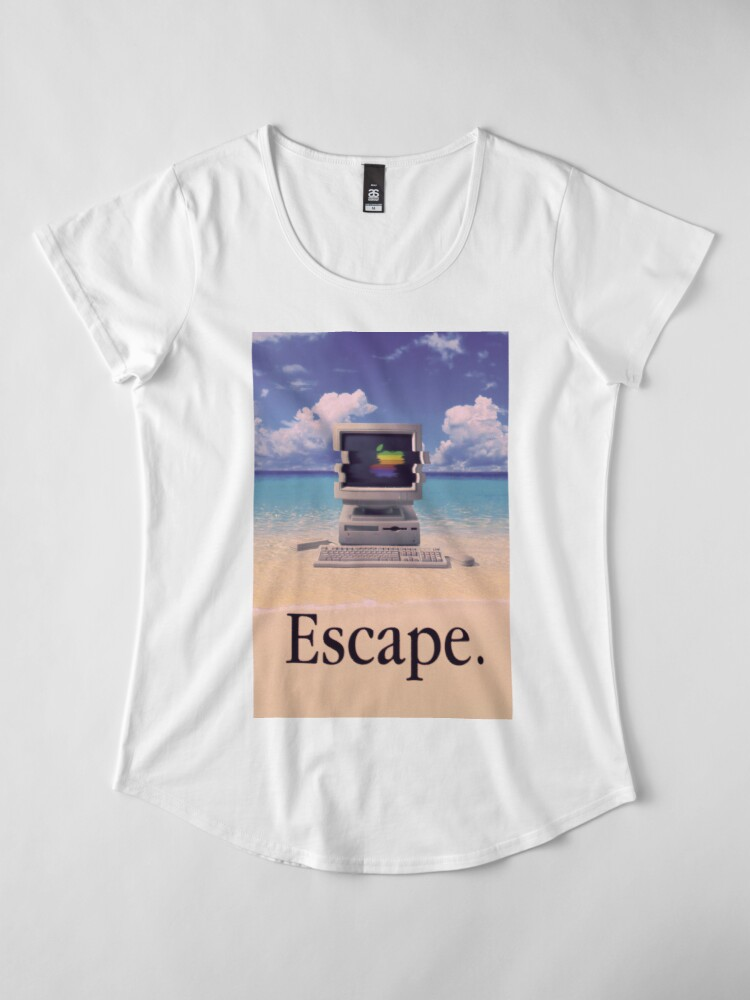 Vista alternativa de Camiseta premium para mujer Vaporwave Macintosh