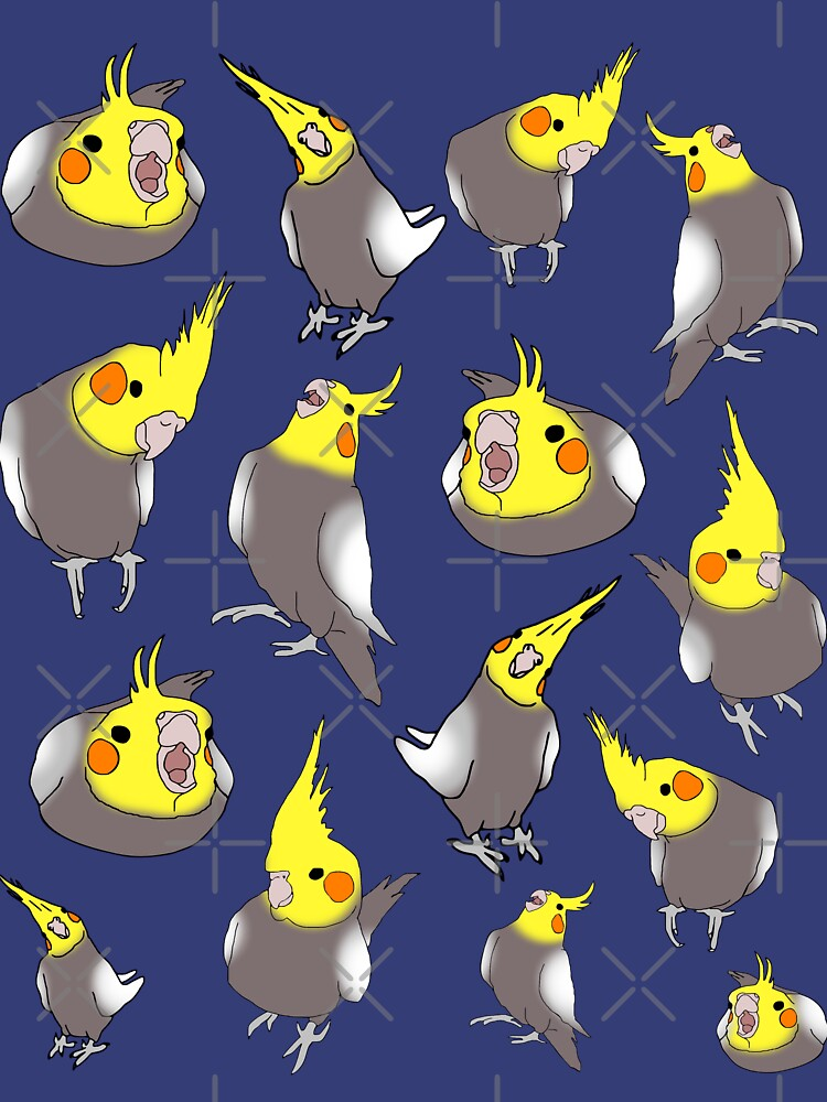 cockatiel doodle pattern by FandomizedRose