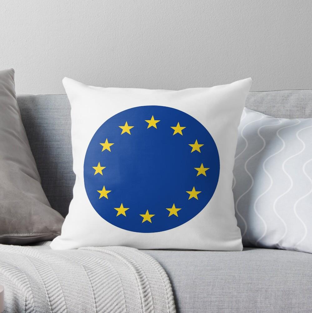 European Union Europa Europe Throw Pillow By All Flags Redbubble