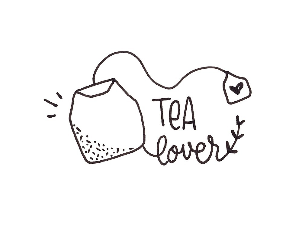 Tea Lover - Minimalist drawing by Miruna Illustration