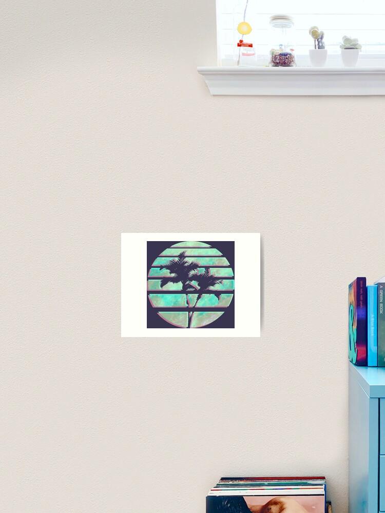 Vaporwave Palm Trees In The Sun Blue Art Print By Alheak Redbubble