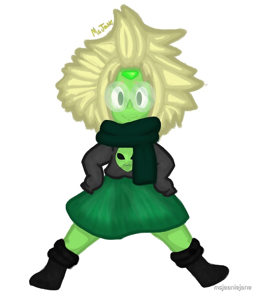 School Geek Peridot - bigger version by msjeaniejane