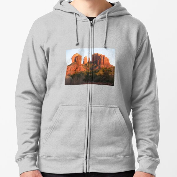 Cathedral Rock, Sedona, AZ Zipped Hoodie