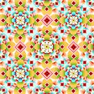 Groovy Deco Geometric (small scale) by PatriciaSheaArt