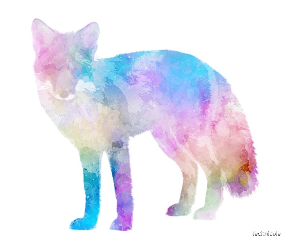 Watercolor Fox by technicole