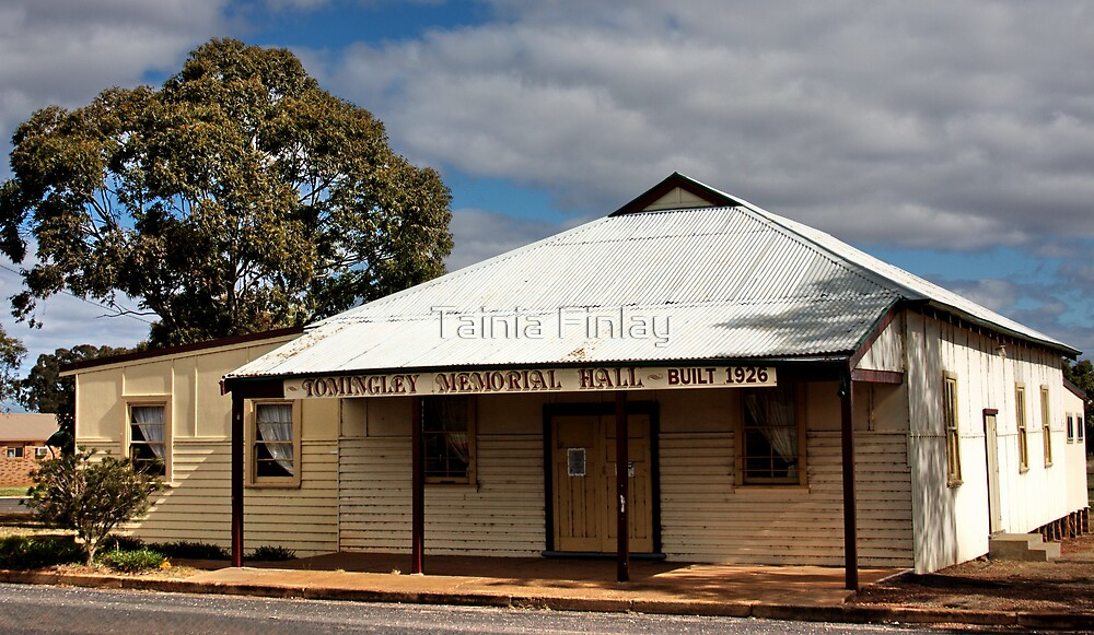 Tomingley Village Hall - In Memory of Vic Cross by Tainia Finlay