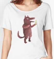 Wolf with Ice Cream Women's Relaxed Fit T-Shirt