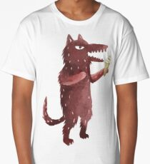 Wolf with Ice Cream Long T-Shirt