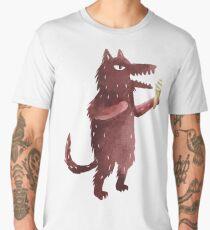 Wolf with Ice Cream Men's Premium T-Shirt