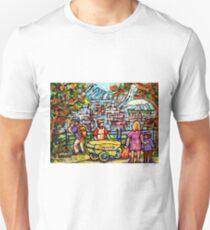 LOOKOUT BEAVER LAKE CHIPWAGON MONT ROYAL PARK BIG O SKYLINE CANADIAN PAINTING CAROLE SPANDAU ARTIST T-Shirt