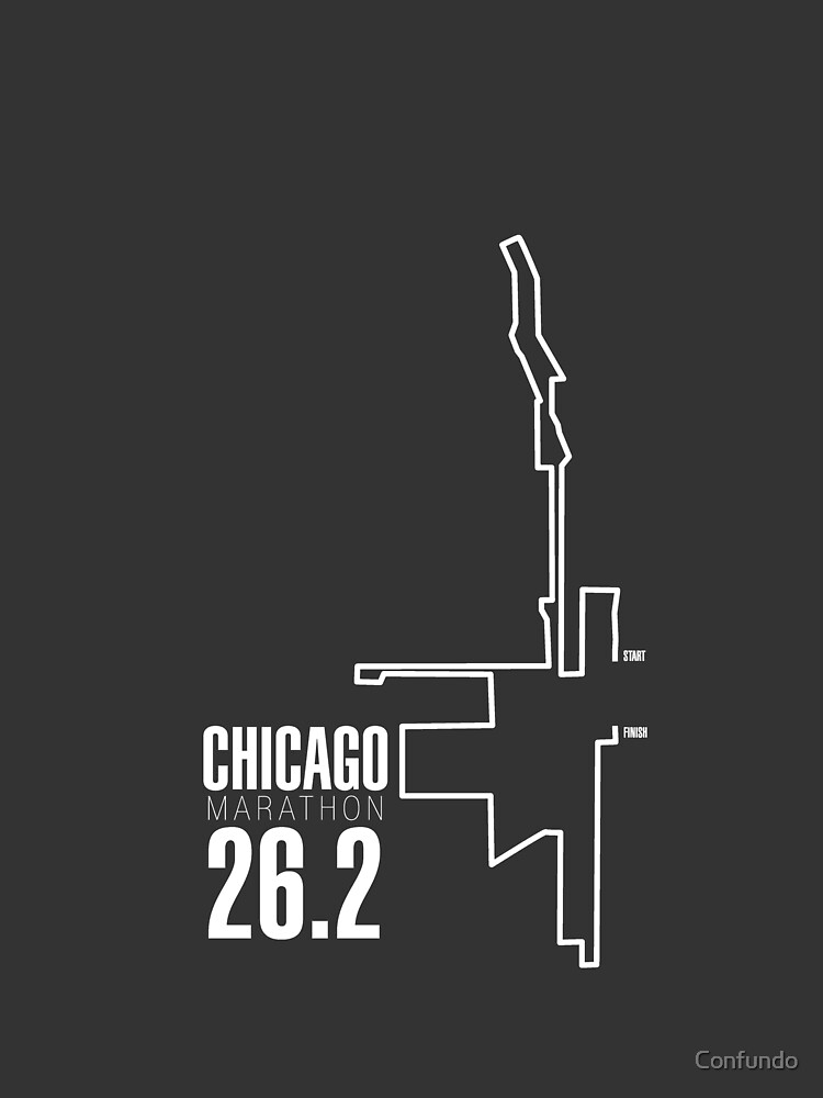 Chicago marathon Route by Confundo