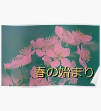 Vaporwave Spring Poster