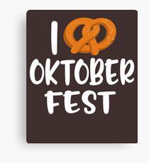 I love Oktoberfest Canvas Print