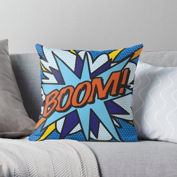 Comic Book Pop Art BOOM! Throw Pillow