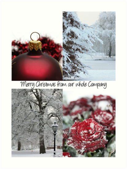 Business Christmas Card: Winter Collage by Sabbia-Natale