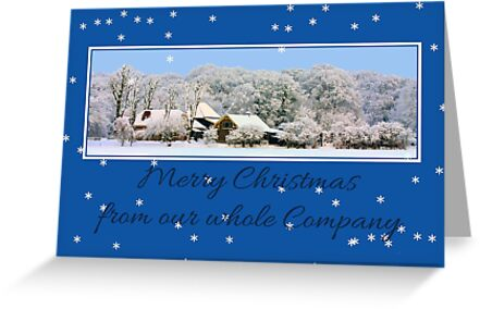 Business Christmas Card: Winter wonderland by Sabbia-Natale