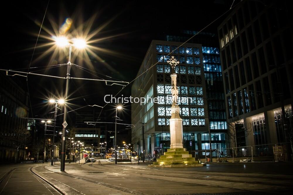 manchester city, night by Christopher Ryan