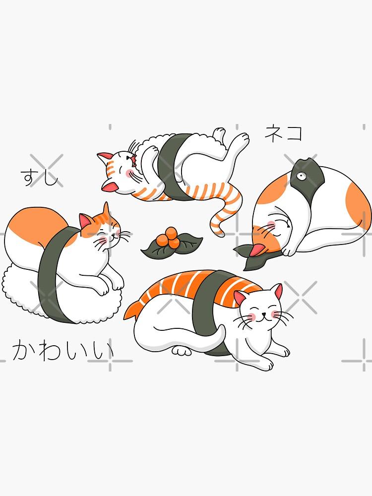 Kawaii Neko Sushi by Elenanaylor