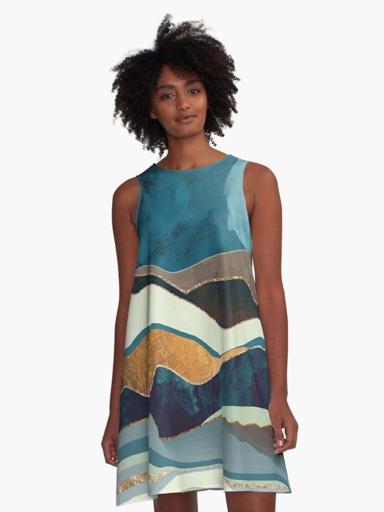 Autumn Hills A-Line Dress Front