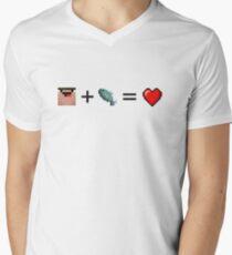 Derp + Fish = Heart (Black) T-Shirt