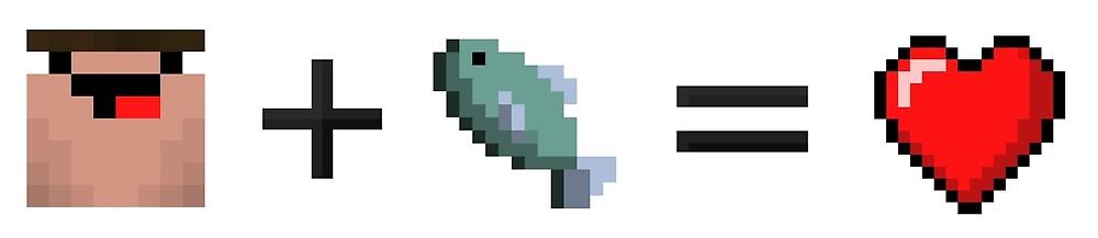 Derp + Fish = Heart (Black) by Black Plasma Studios