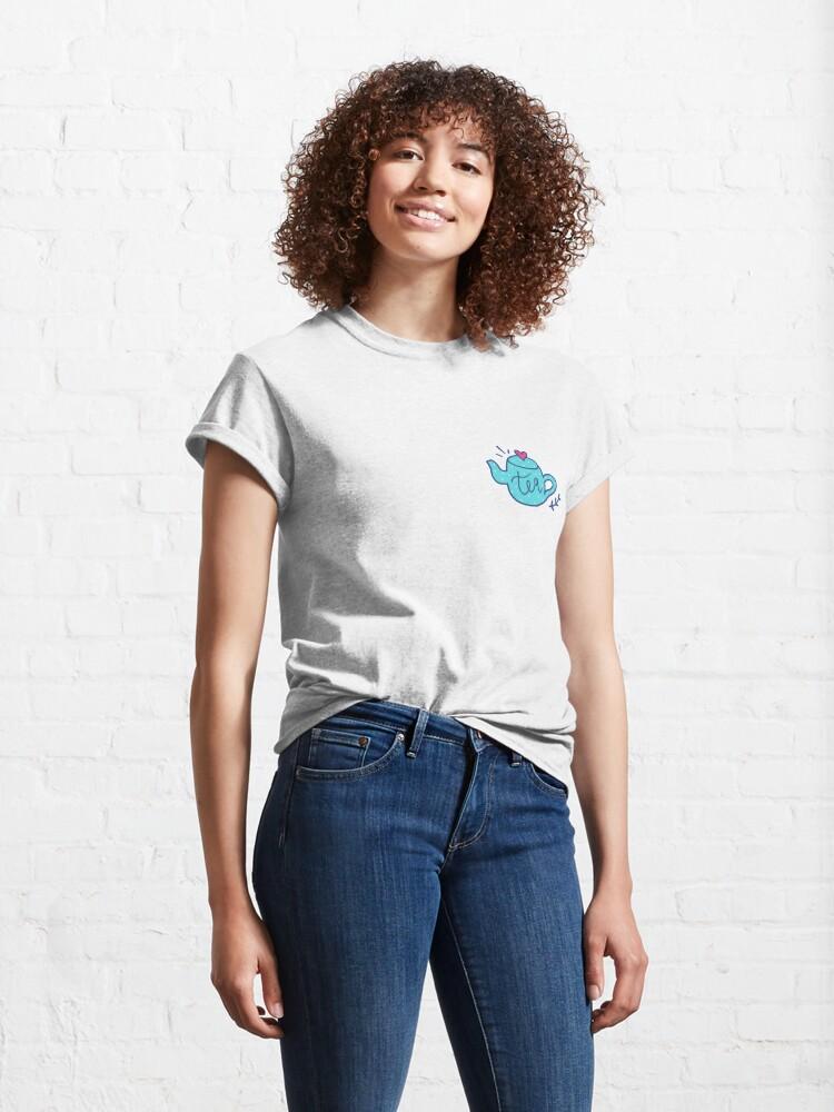 Alternate view of Tea Love - Pattern Classic T-Shirt