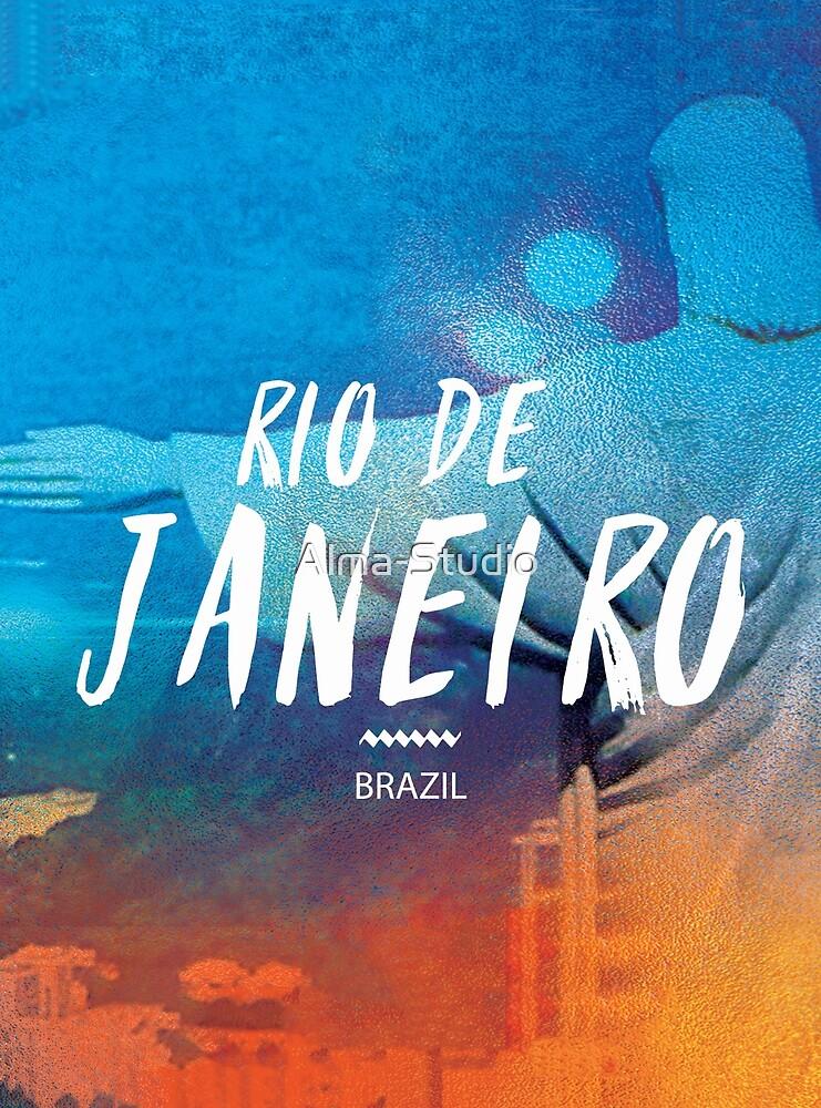 Rio de Janeiro, Brazil, Corcovado, blue by Alma-Studio