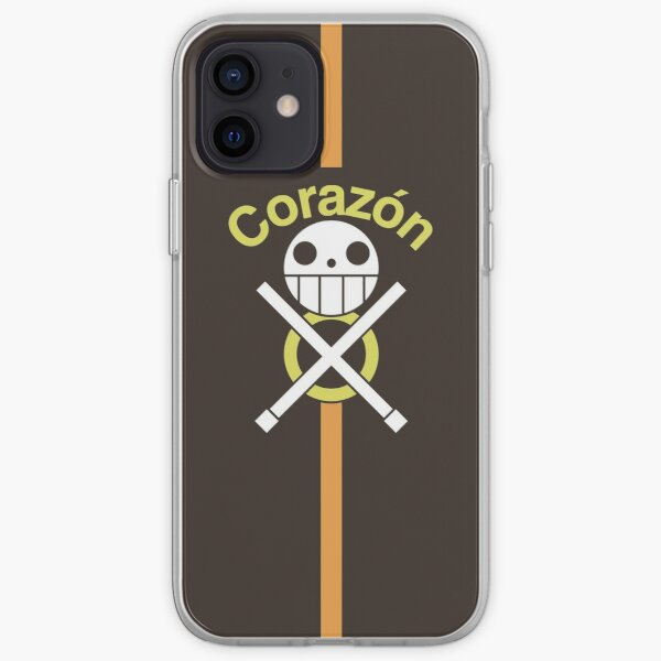 Trafalgar Law Corazón Pirates Manteau brun Coque souple iPhone