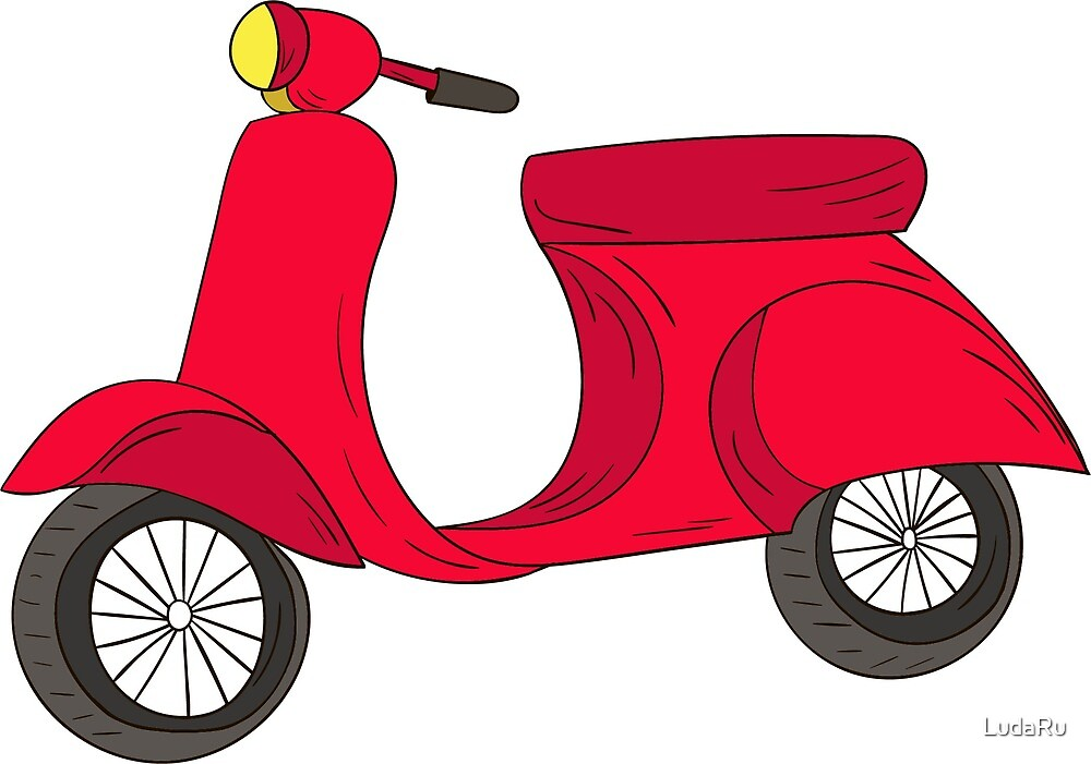 Red scooter by LudaRu