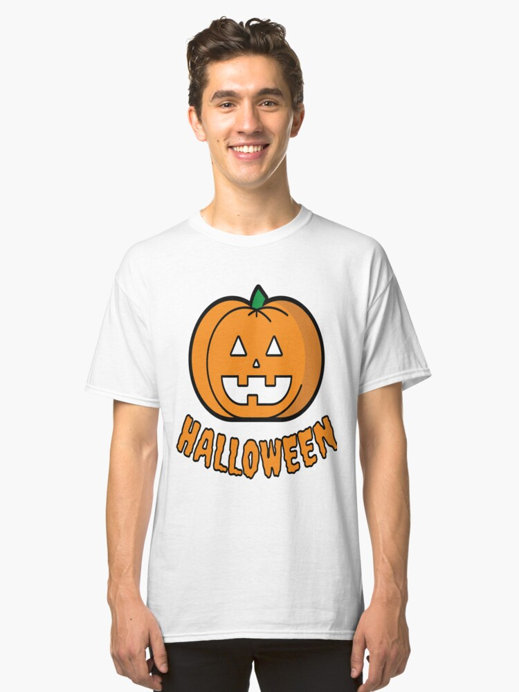 Pumpkin Halloween Costume T-Shirt Funny Classic T-Shirt Front