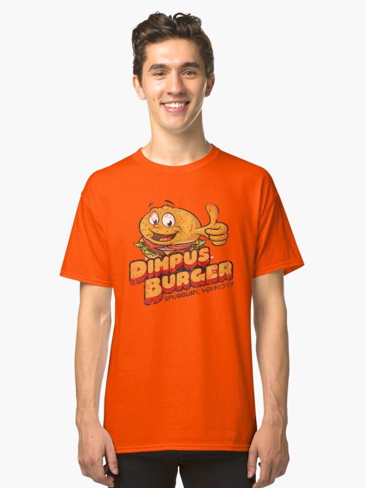 Dimpus Burger Classic T-Shirt Front