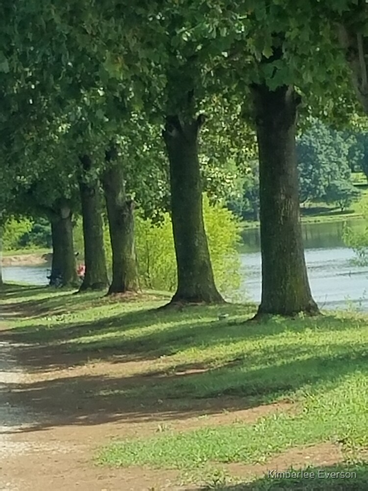 Trees by the lake by Kimberlee Everson