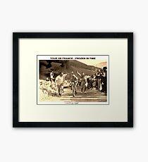 TOUR DE FRANCE; Vintage Frozen in Time Advertising Photo Framed Print