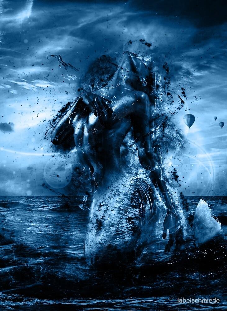Beautiful Mermaid Art Design by Labelschmiede by labelschmiede