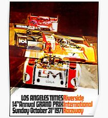 AUTO RACING Vintage Advertising Print Poster