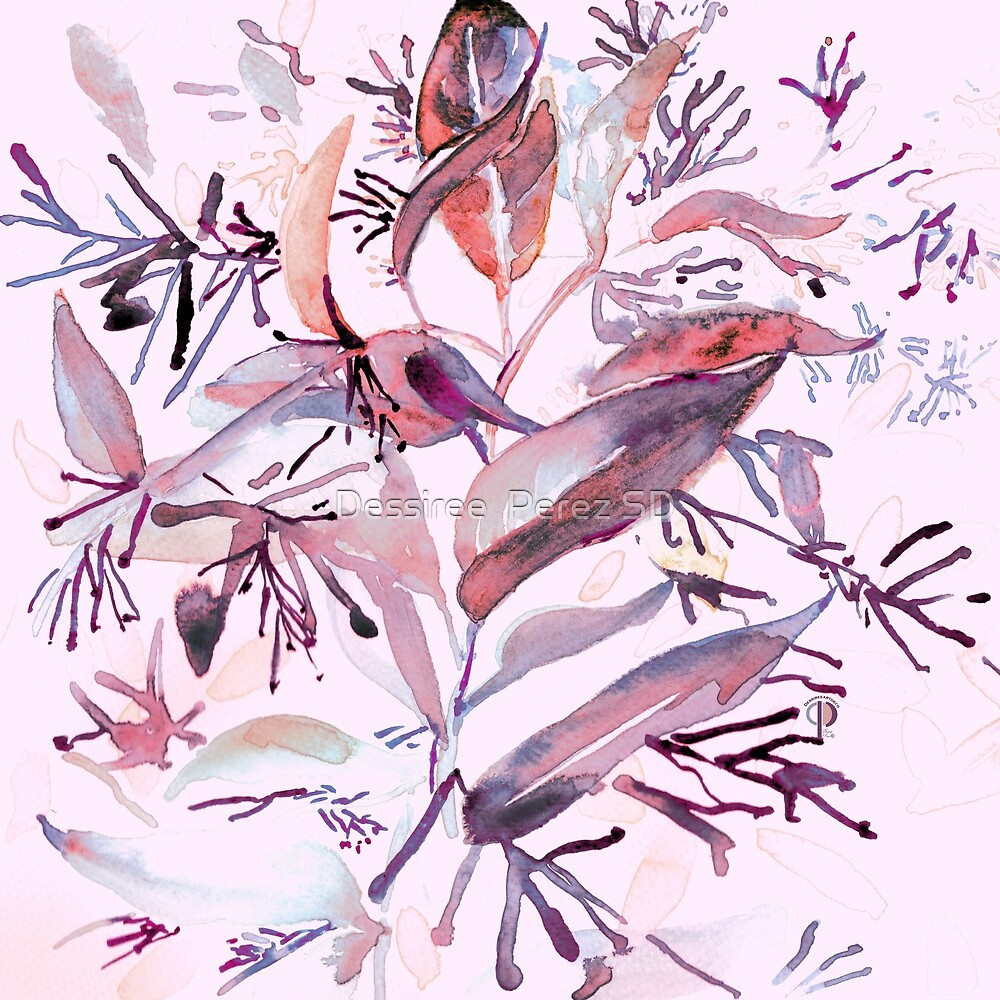 """P. Hand painted watercolor art """"Botanical Illusion"""" by Dessiree  Perez"""