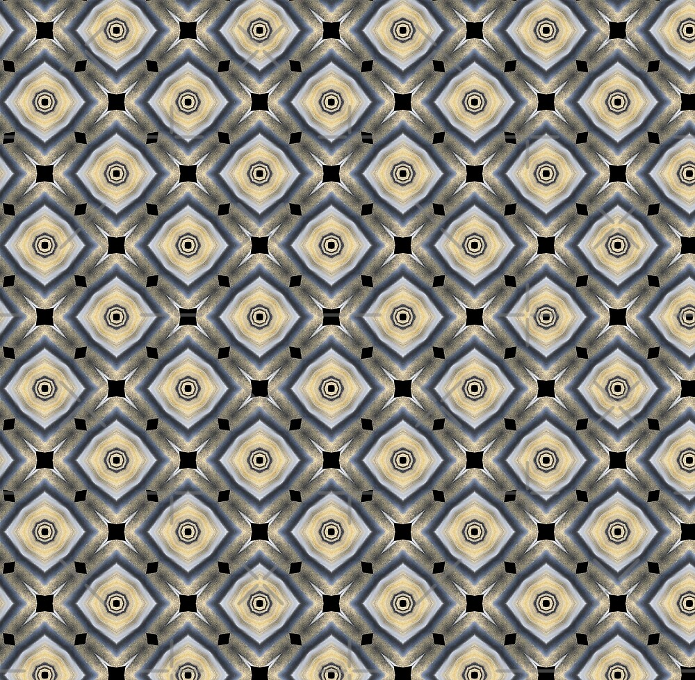 Diamond geometric  black and gold by Seremina
